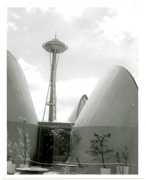 Space Needle & House of Light [i.e. Plywood Home of Living Light]; View S.E.