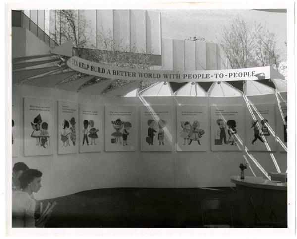 Exhibit at United Nations Pavilion; Int. Mall; View N.W.
