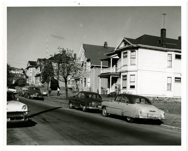 1st Ave. No. 400 block; View north-east