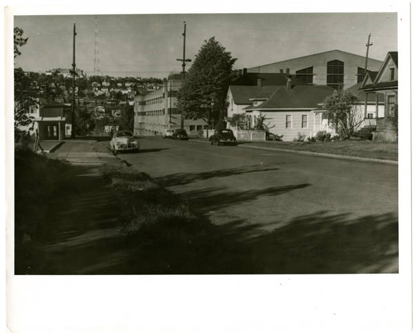 View of 3rd Ave. No. from near John Str.; Armory upper right