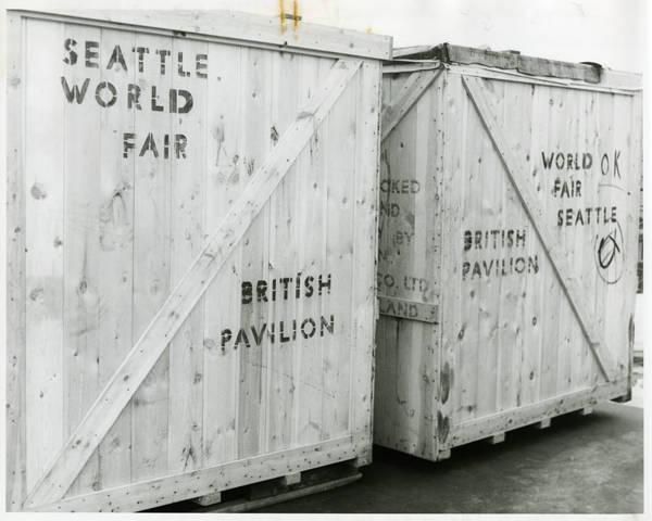 Packing box for British Pavilion