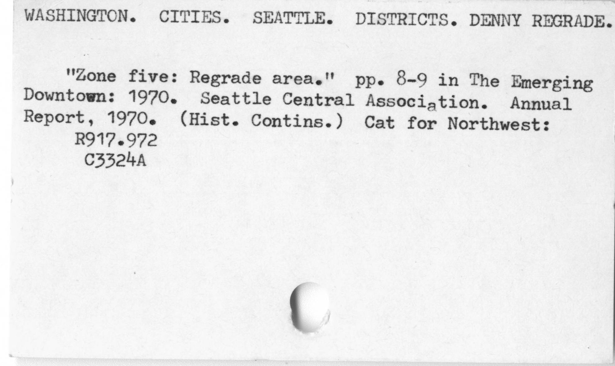 Seattle. Districts. Denny Regrade.