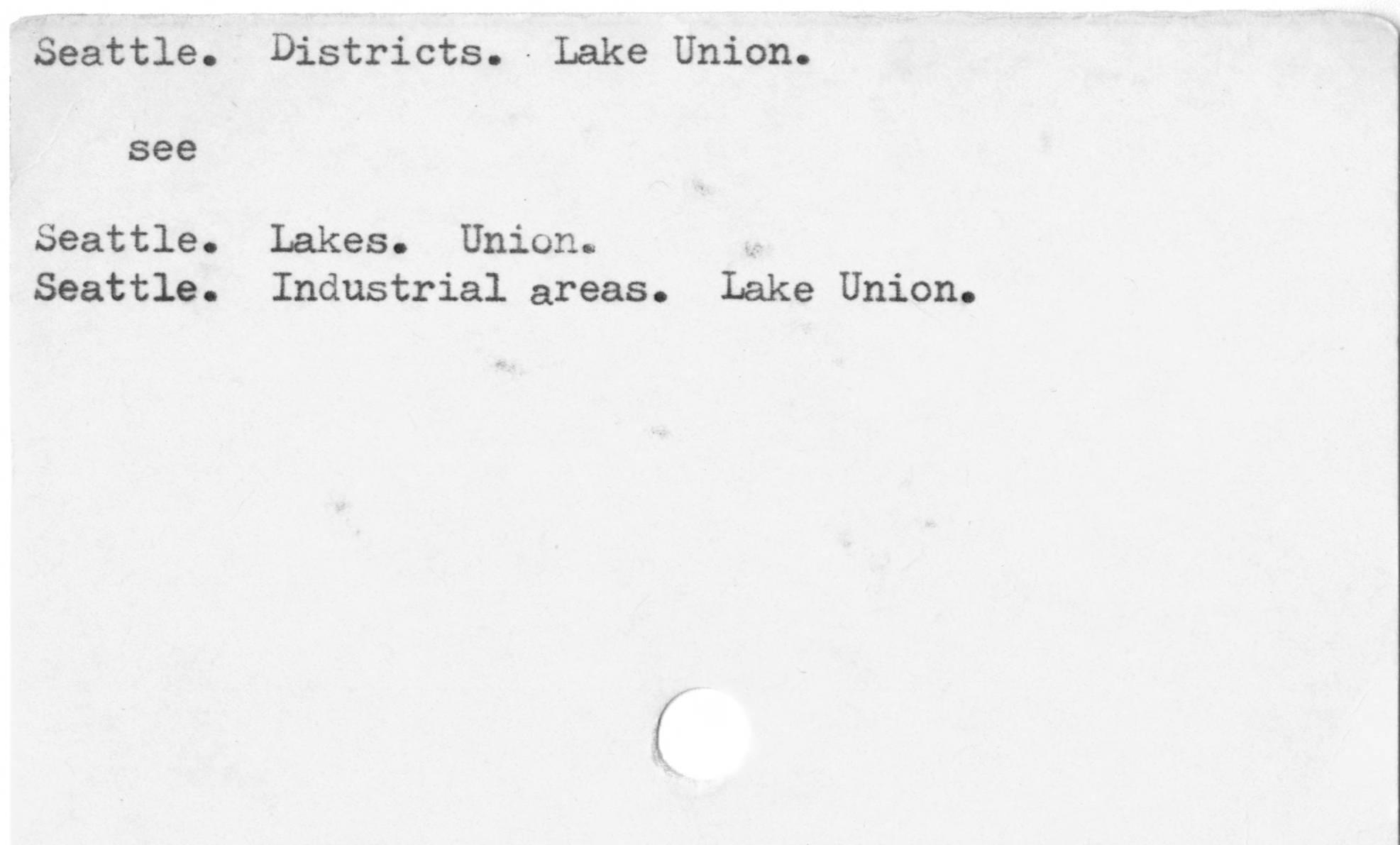 Seattle. Districts. Lake Union.