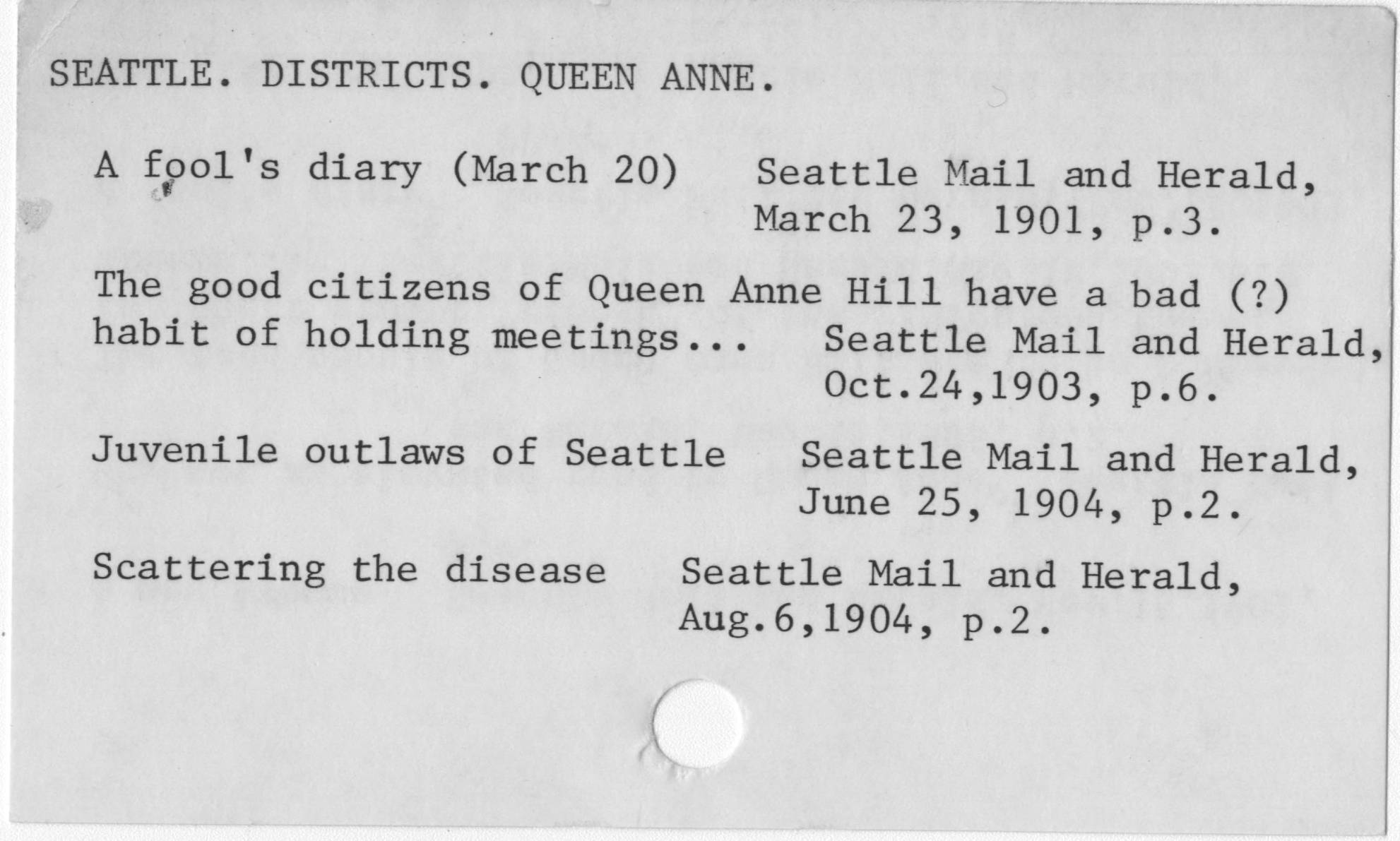 Seattle. Districts. Queen Anne.