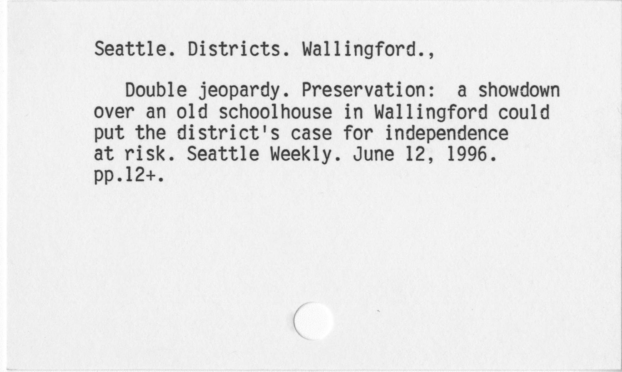 Seattle. Districts. Wallingford.