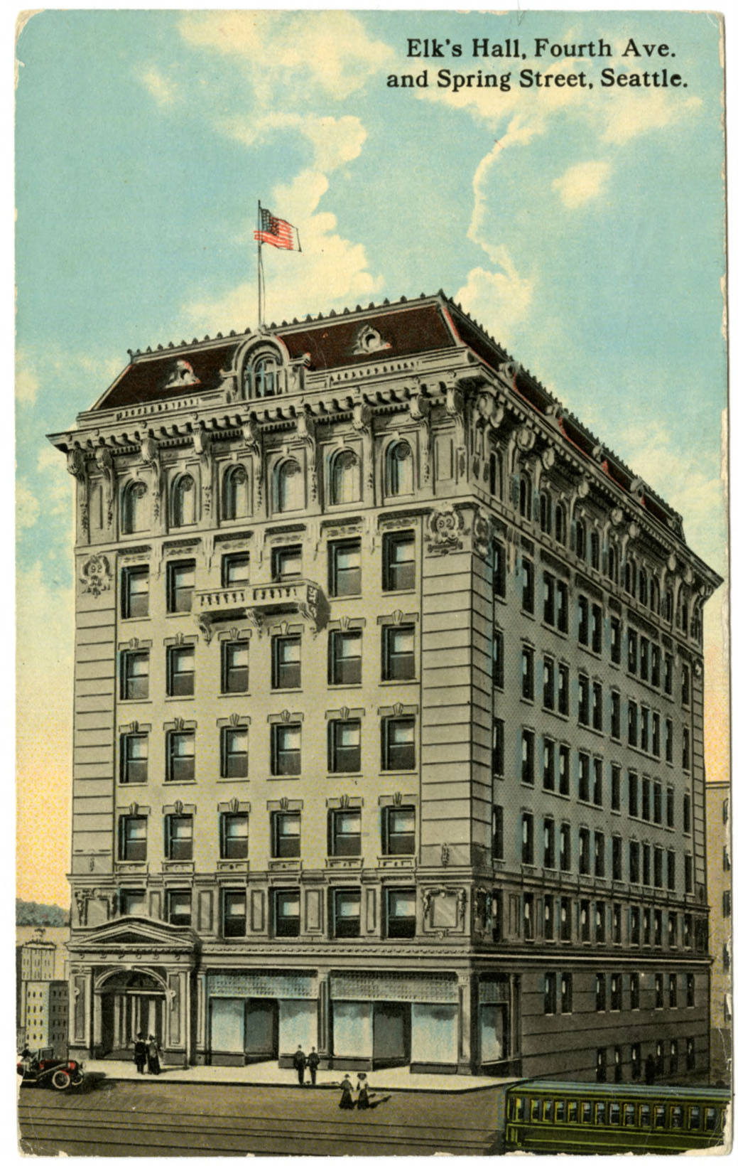 Elk's Hall at 4th Ave. and Spring St., ca. 1910
