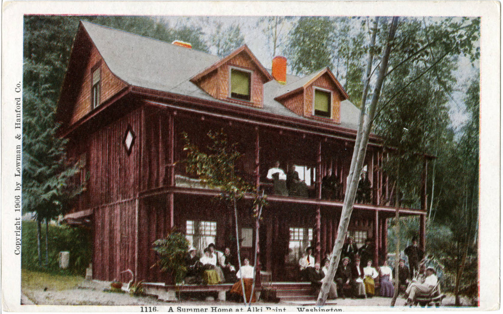 A Summer Home at Alki Point Washington, 1906