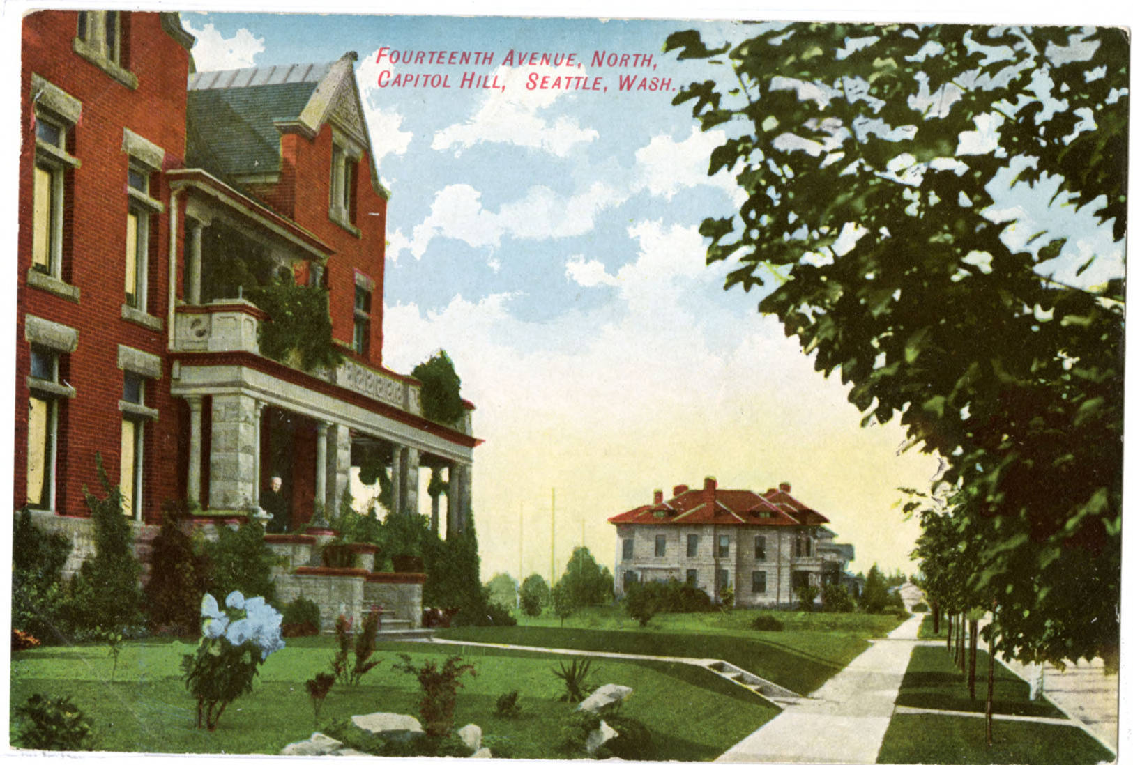 14th Ave. homes on Capitol Hill, ca. 1910