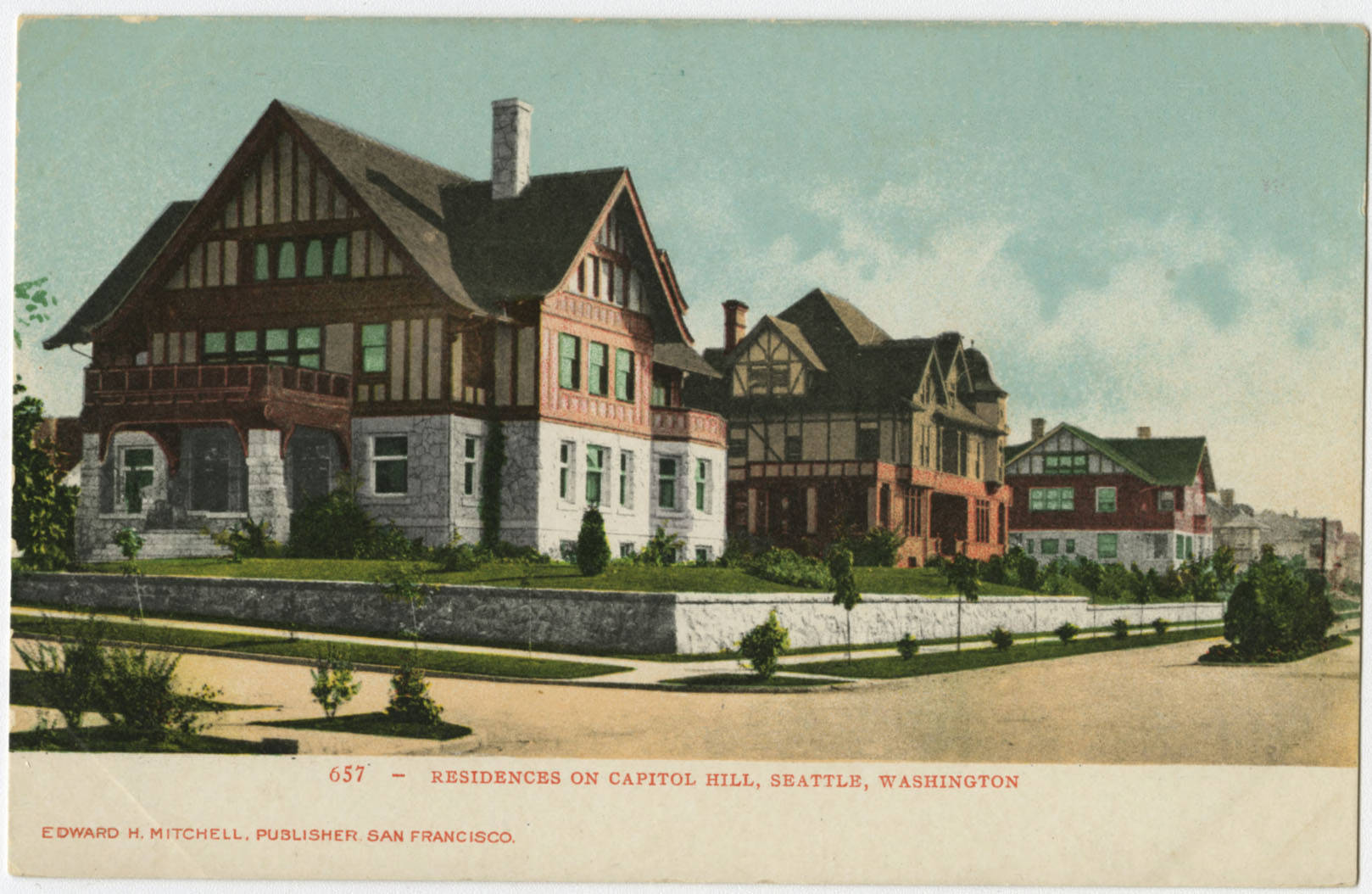 Residences on Capitol Hill, ca. 1905
