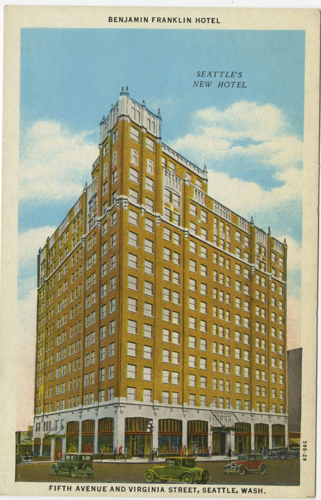 Benjamin Franklin Hotel, ca. 1929