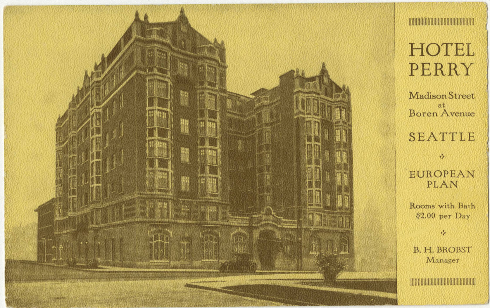Hotel Perry, 1909