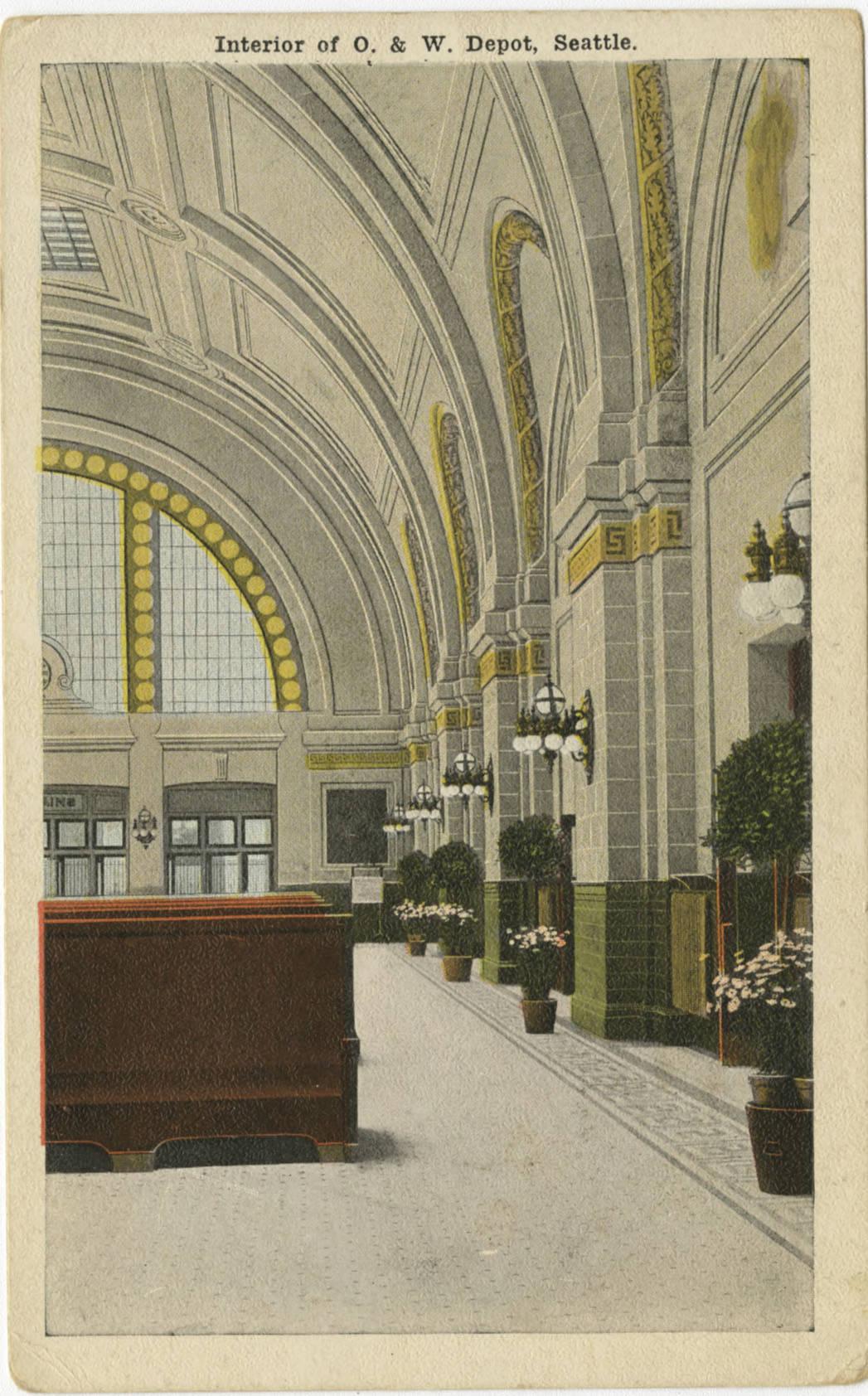 Union Station interior, ca. 1915