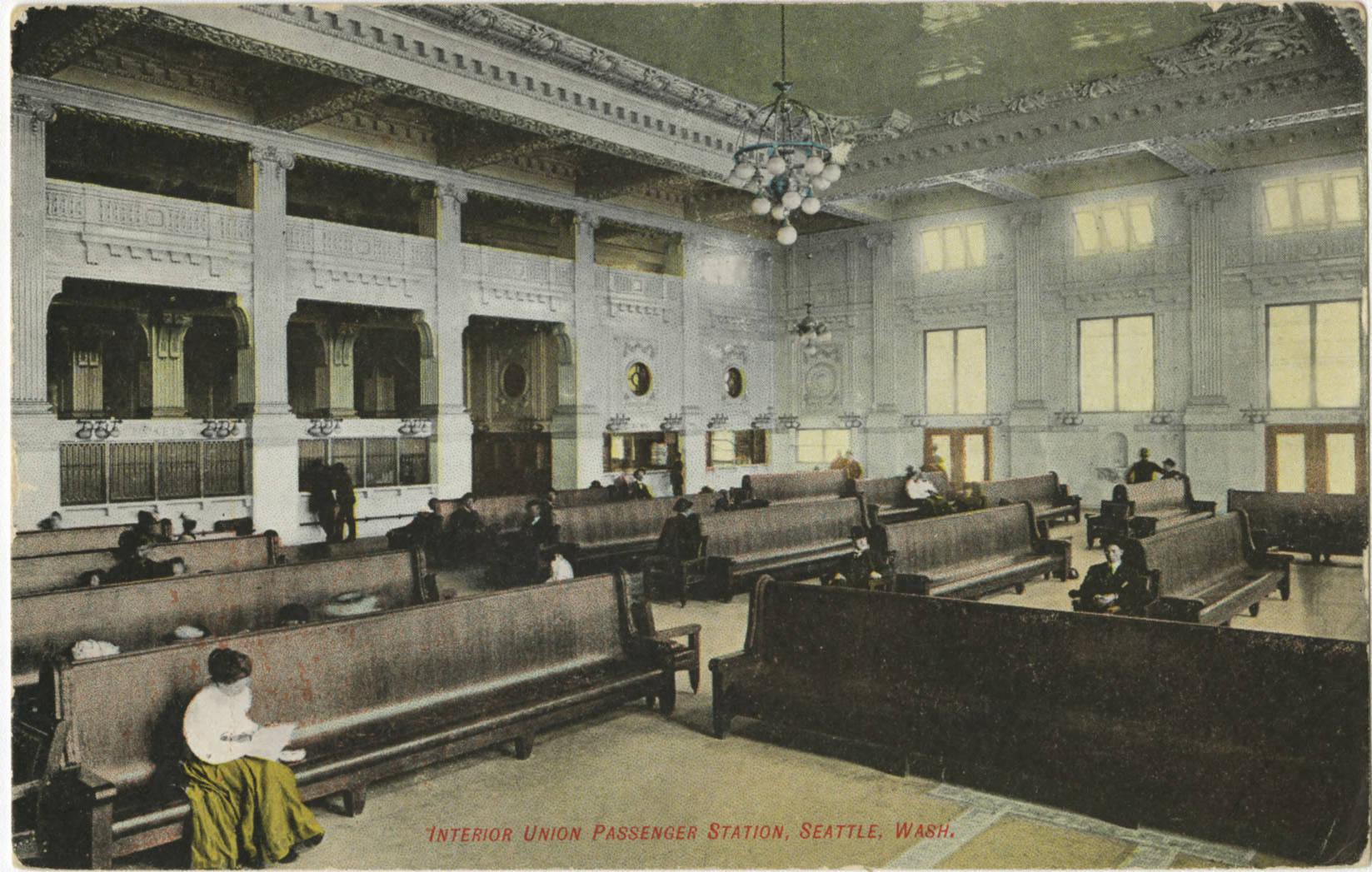 King Street Station interior, ca. 1906