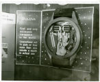 Commerce Pavilion; Bulova watch exhibit