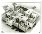 Modern house of the immediate futre [i.e. future]; Moved to Mercer Iland [i.e. Island]