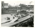 World's Fair opening dedication in stadium; Watershow
