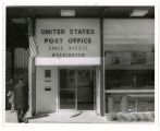 U.S. Post Office; Space Needle; Wash. View west on 2nd Av. No.; North of Thomas Str.