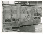 On Show Street; Wax museum shipping box for Joan of Arc