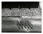 Canadian military tatoo [i.e. tattoo] in stadium; Sectional view