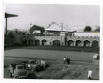 Blacktopping stadium infield for Canadian tatoo [i.e. tattoo]; View S.W. Bldg. is reproduction of...