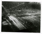 Closing ceremony; Massed high school bands; Police drill team; Huskie [i.e. Husky] band