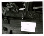 Swedish Pavilion; Gun from warship Vasa sunk in Stockholm August 10, 1628 fired at opening day...