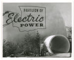 View west of entrance to Pavilion of Electric Power