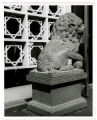 World's Fair Museum; One of two stone lions donated by the Gov. of the Republic of China