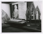 Indoor exhibit of World [i.e. World's] Fair museum; Exhibits in corner; Thailand - India - Great...