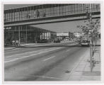 Looking S.W. on Mercer Street; Garage overpass; Left entrance to Opera