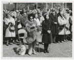 10th anniversary of Seattle World's Fair 1962; Lady standing on left front row is Gracie Hansen;...