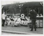 World's Fair band wearing old uniforms with a few member [i.e. members] of original band in...