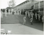 Dancing the Twist with World's Fair Band music south of Coliseum; View S.E. with Republic of China...