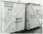 Packing box for British Pavilion