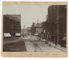 View north on 1st Ave. from Pioneer Square, 1899