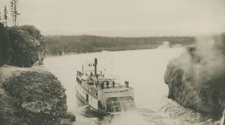 Philip B. Low at Five Finger Rapids on Yukon River